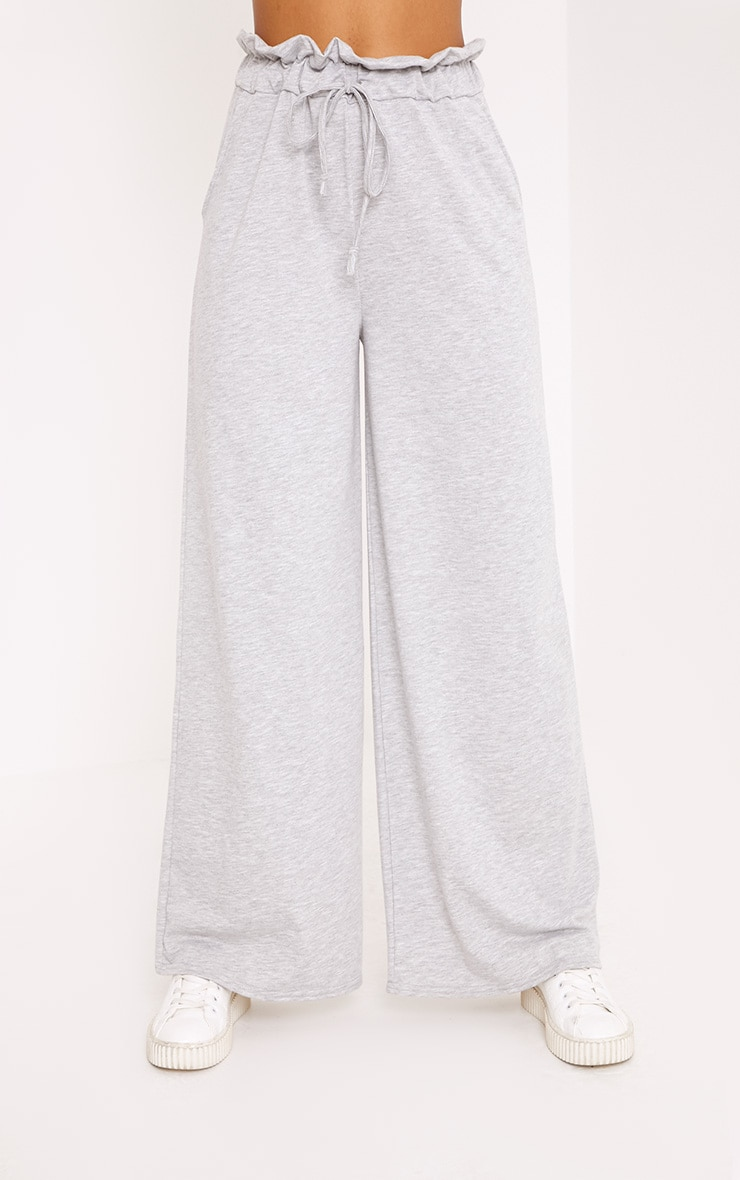 Jessey Grey Paperbag Wide Leg Trousers 2