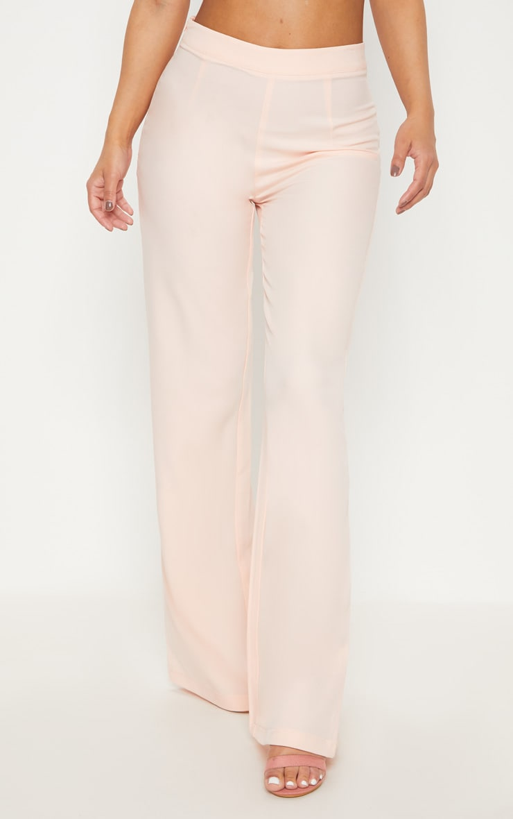 Petite Nude Woven Wide Leg Suit Pants 2