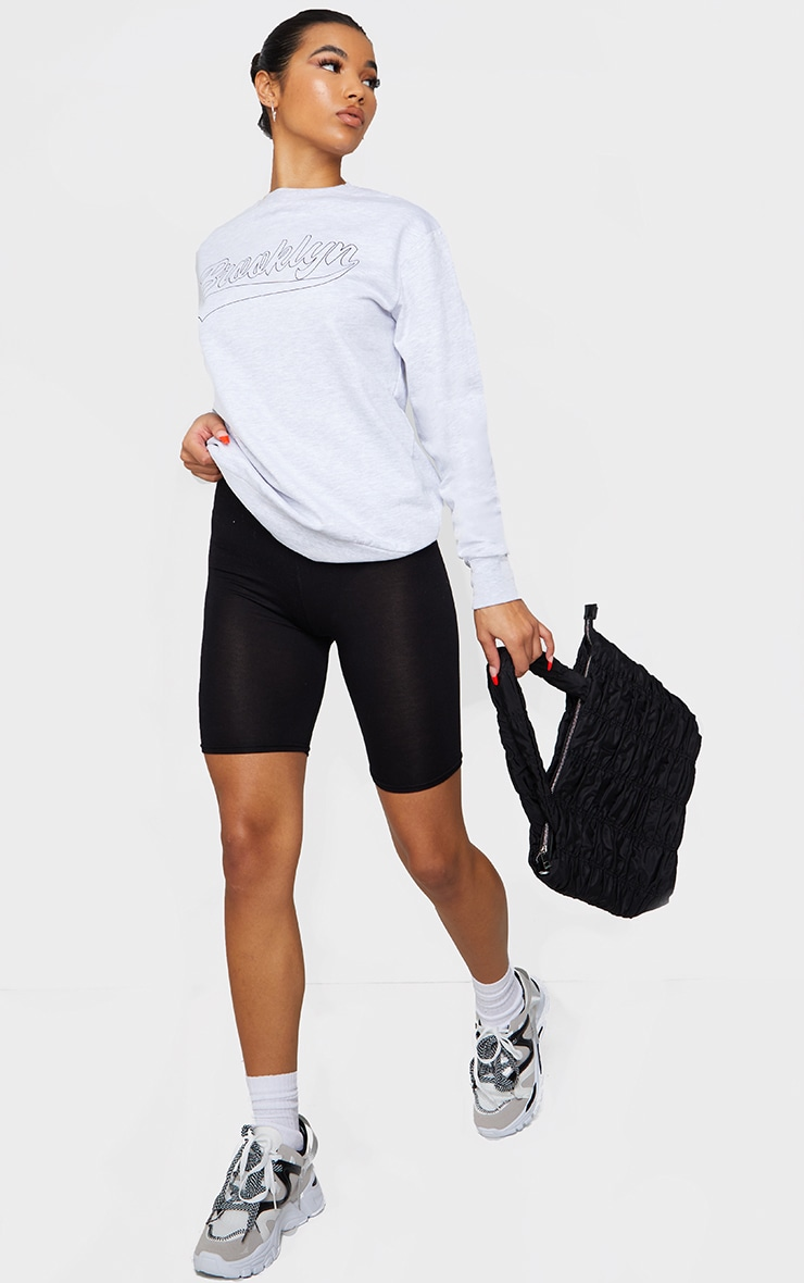 Basic Black Cotton Blend Cycle Shorts 1