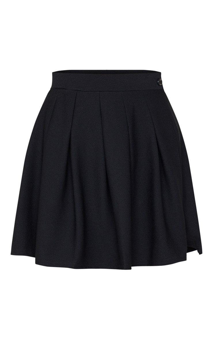 Black Pleated Side Split Tennis Skirt 3