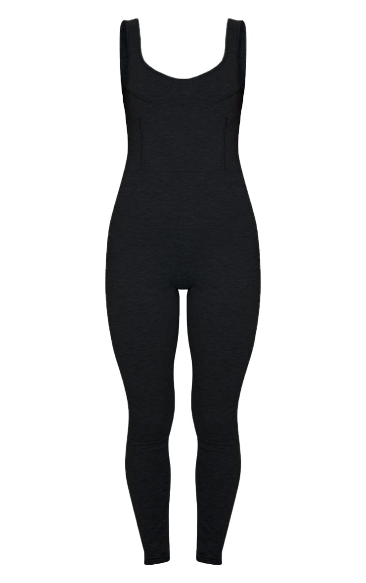 Black Soft Binding Detail Sleeveless Jumpsuit 5