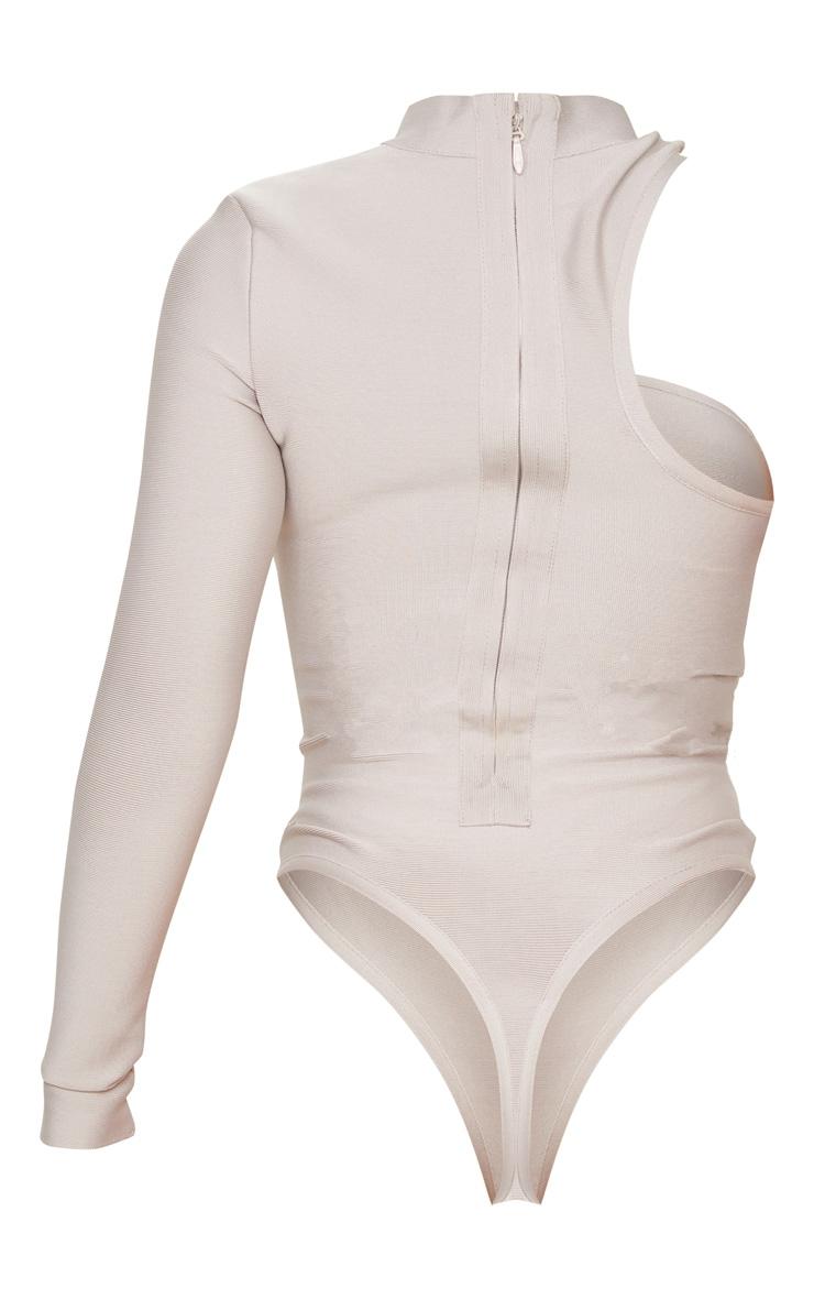 Body bandage nude à épaule unique 6