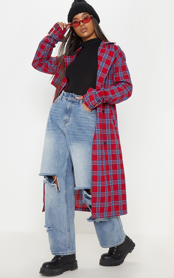 Red Checked Trench  4