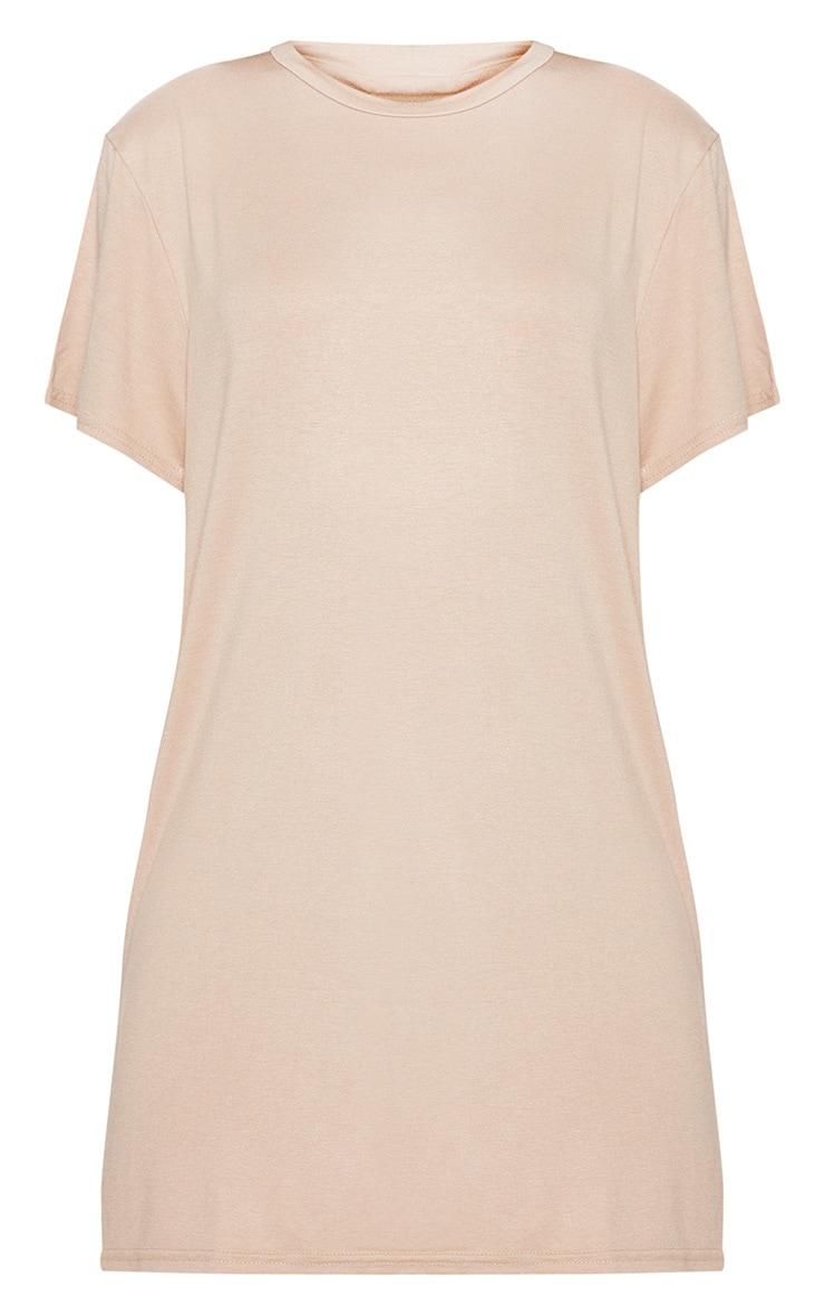 Recycled Nude Short Sleeve Basic T Shirt Dress 5