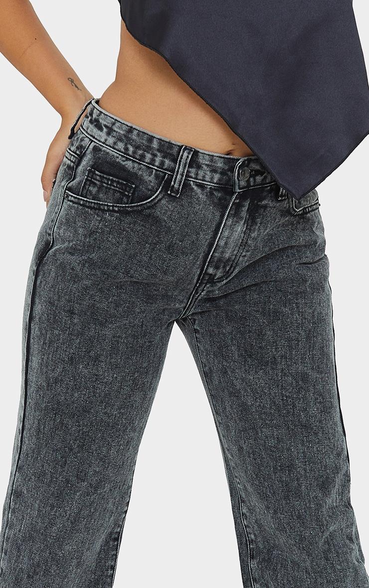 Petite Black  Low Rise Split Hem Jeans 4