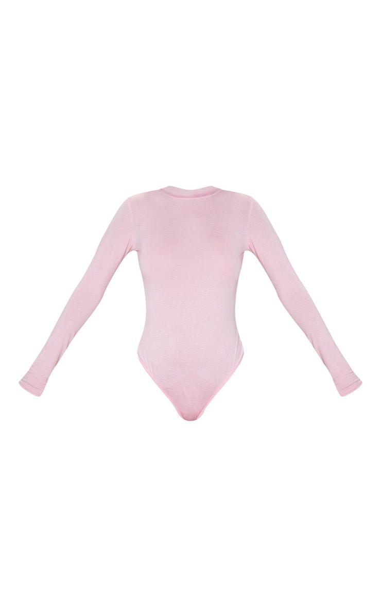 Body-string en jersey rose à détail dans le dos 3