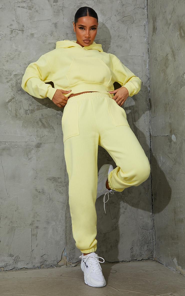 Jogging citron à poches resserré en bas