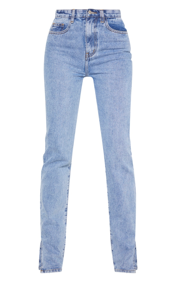Tall Mid Wash Split Hem Jeans 4