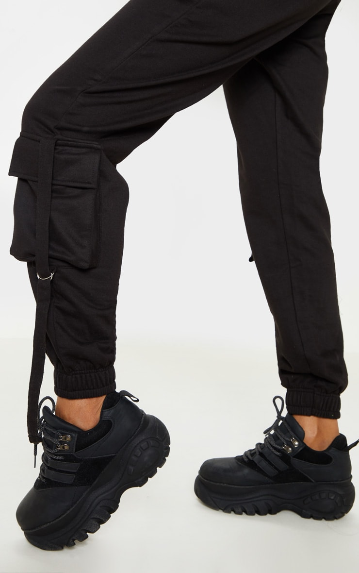 Black Cargo Detail Casual Jogger 5