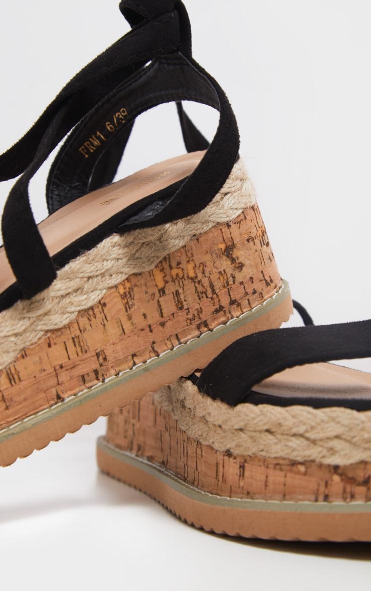 Niella Black Espadrille Flatform Sandals 3