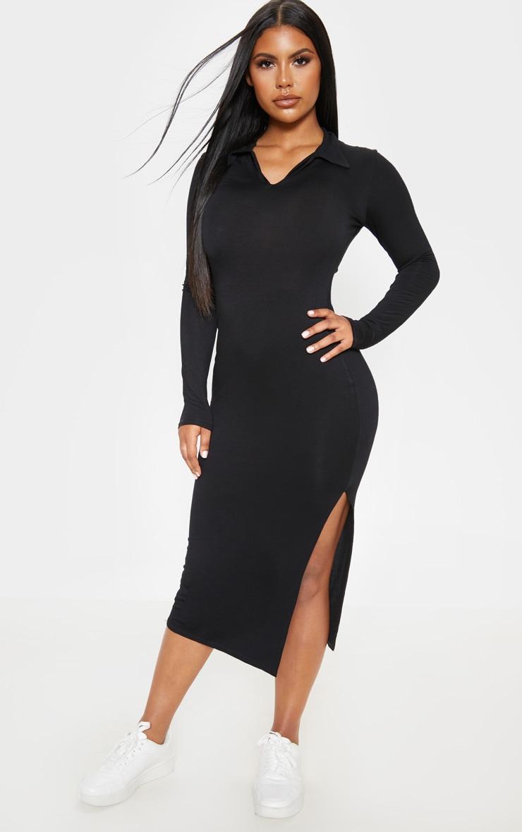 Black Polo Midi Dress 1