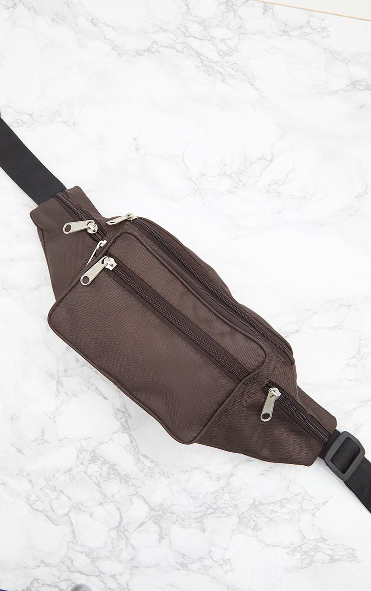 Brown Front Pocket Bum Bag 6