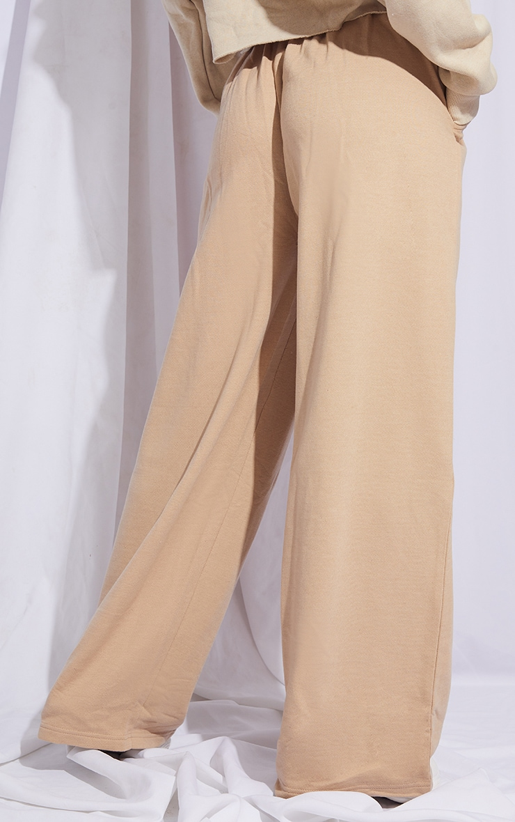 Stone Drawstring Slouch Wide Leg Trousers 3