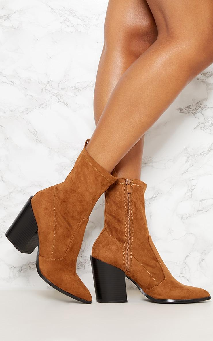 Danica Stone Western Sock Boots 1