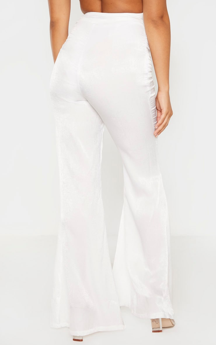Petite White Tailored Extreme Flared Pants 4