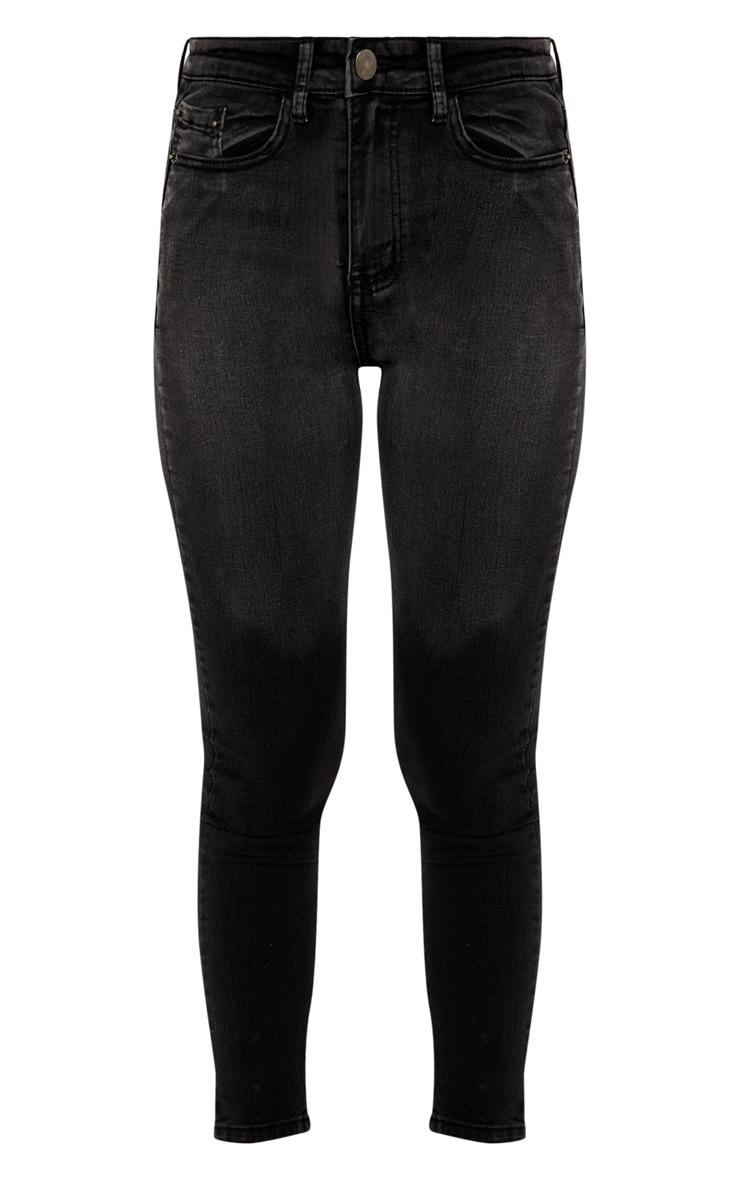 Charcoal Grey Zip Back Skinny Jean  3