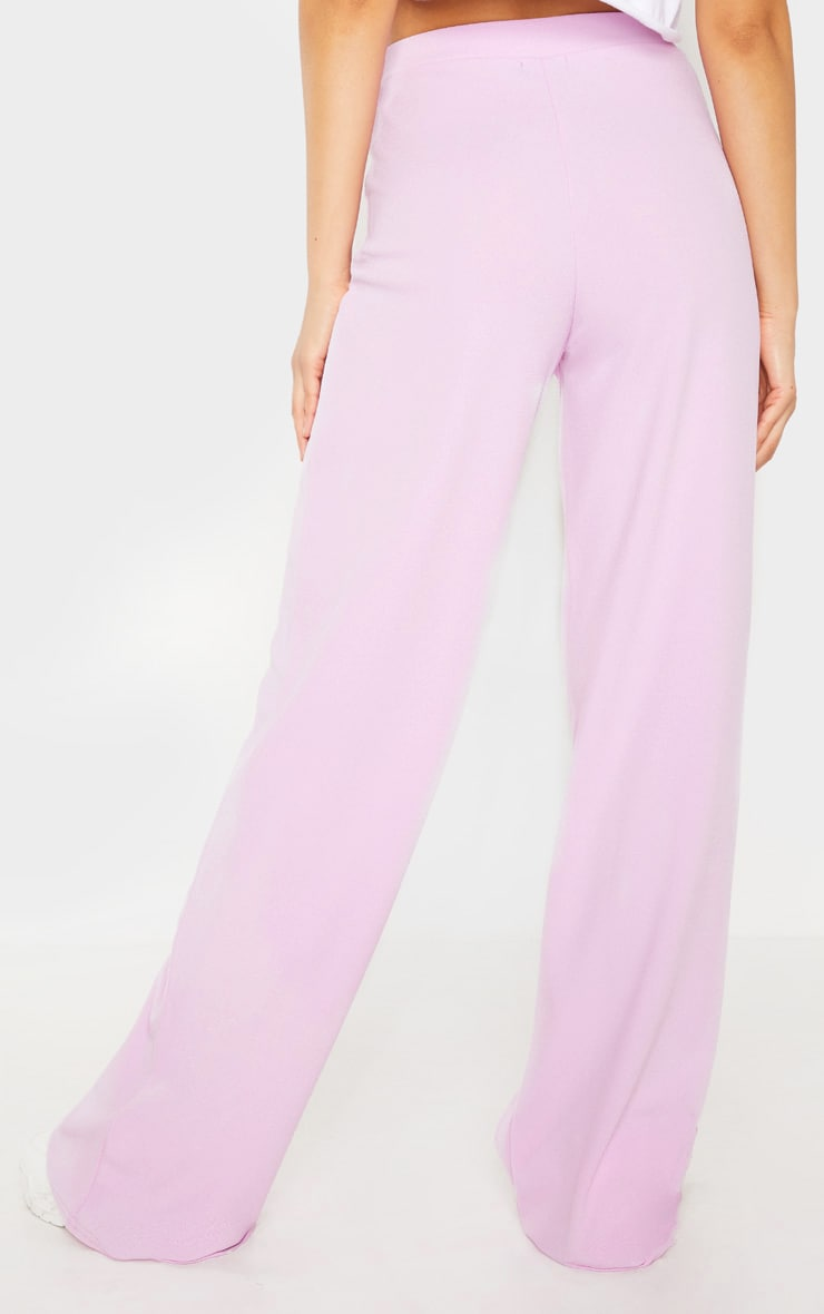 Pastel Lilac High Waisted Wide Leg Trouser 3