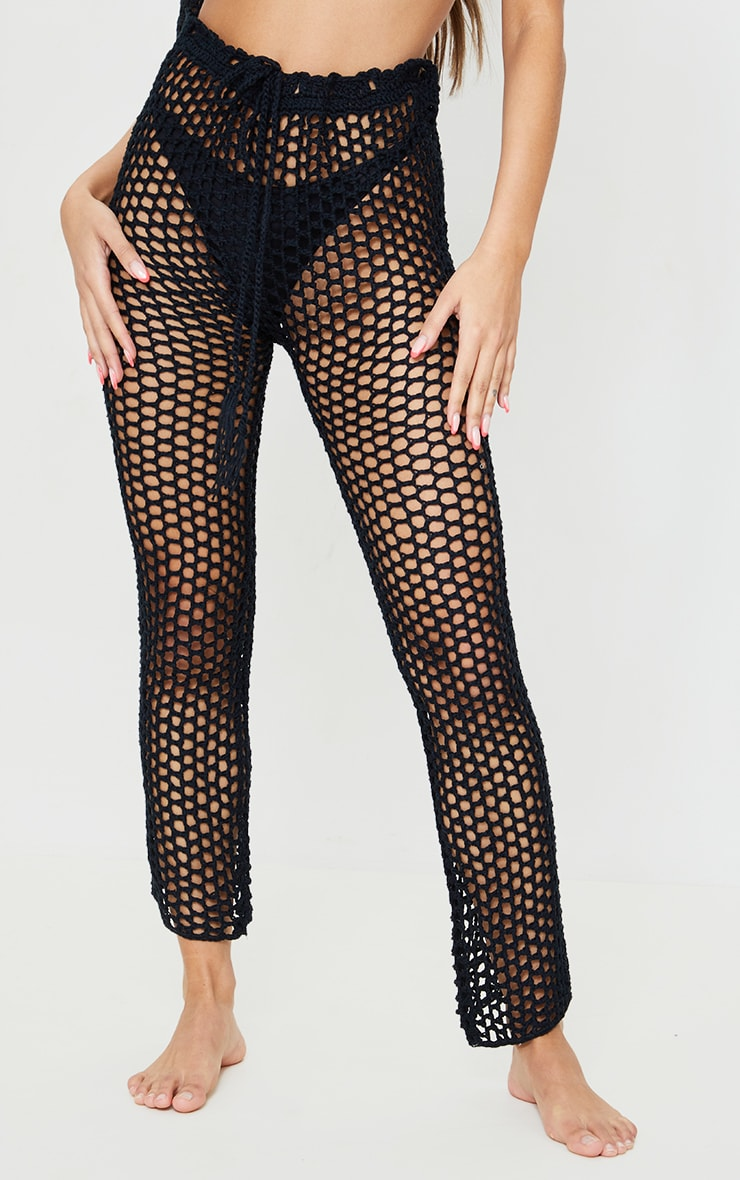 Black Crochet Trousers 2