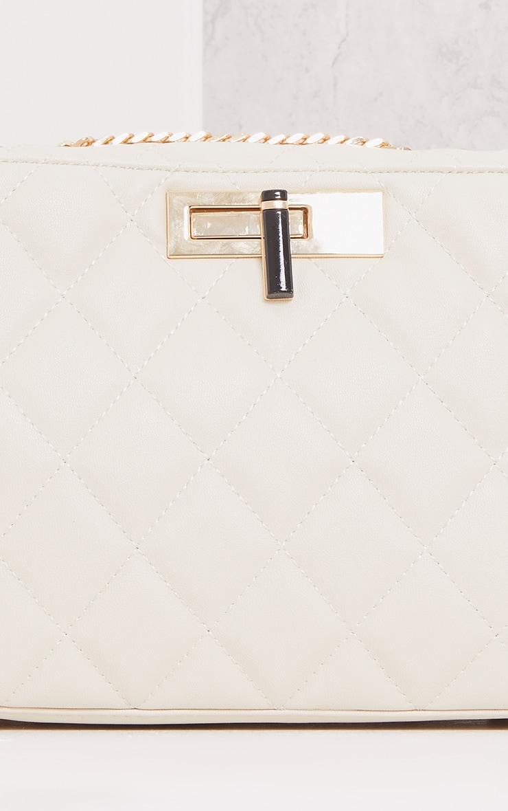 Eriki Beige Padded Twist Lock Bag 5