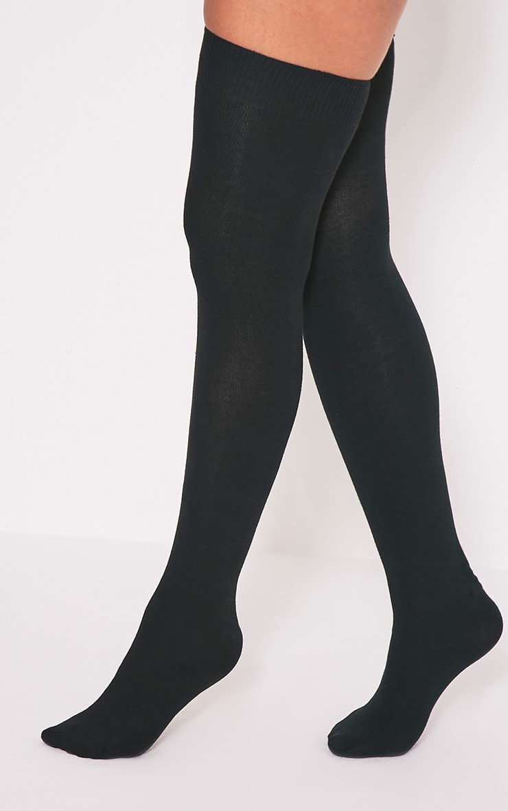 Calliope Black Over The Knee Socks 1