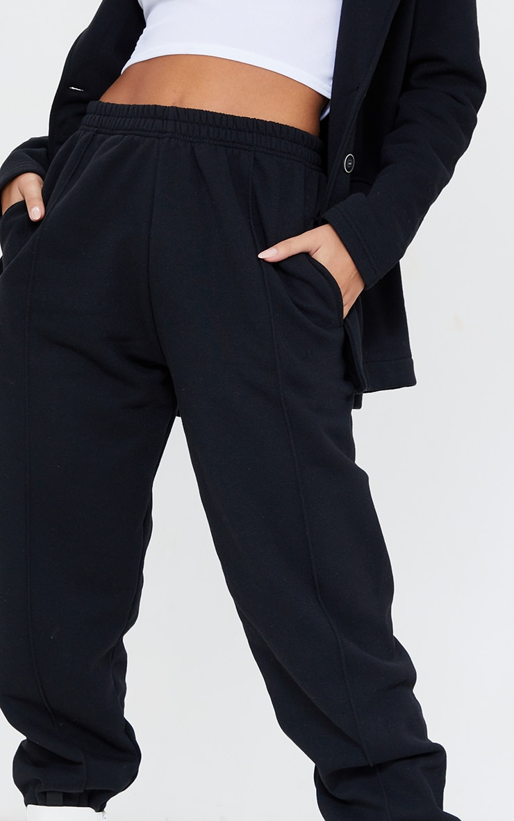 Black Seam Front Cuffed Joggers 4