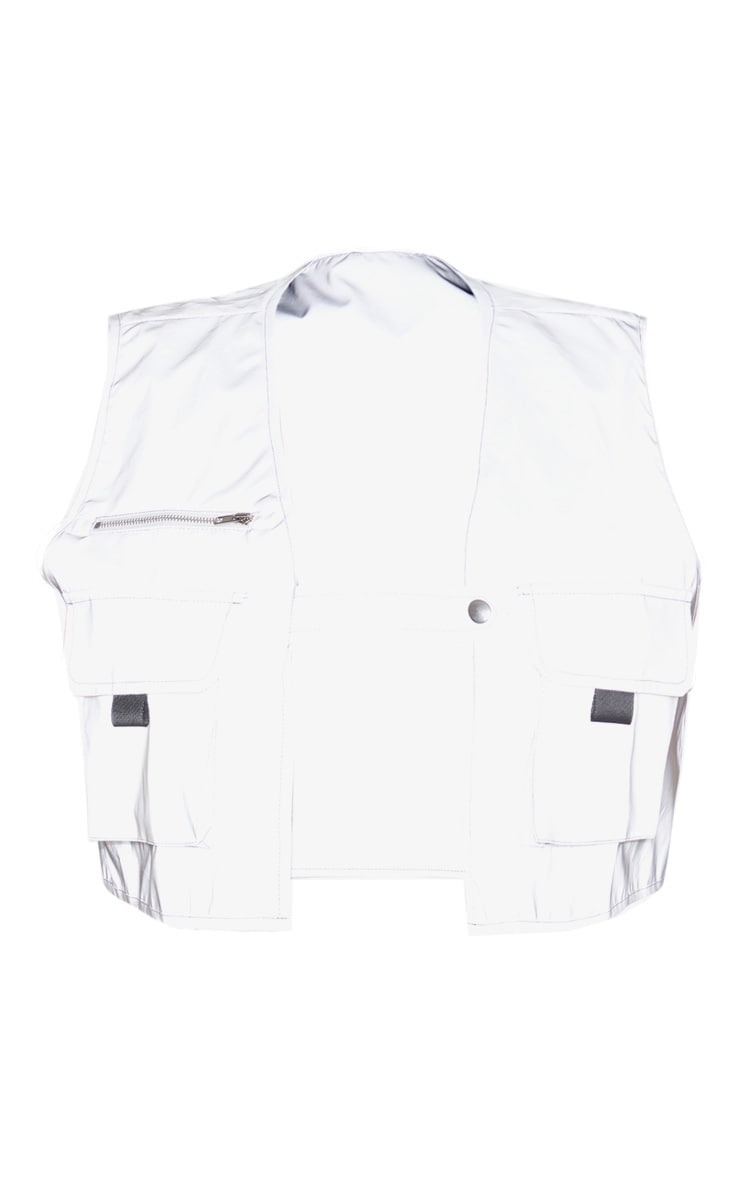 Plus Grey Pocket Detail Reflective Utility Vest 3