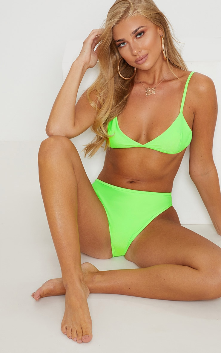 Lime Mix & Match Itsy Bitsy Bikini Top 5