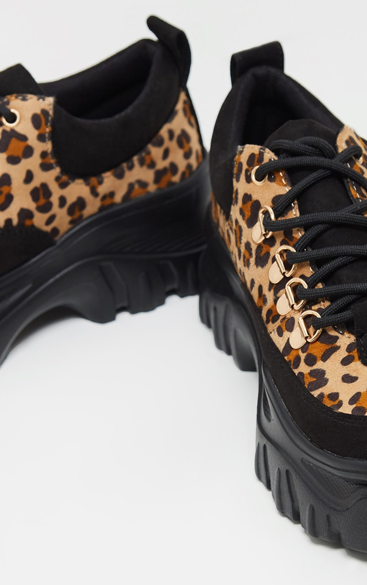 Leopard Flatform Chunky Hiker Sneakers 5