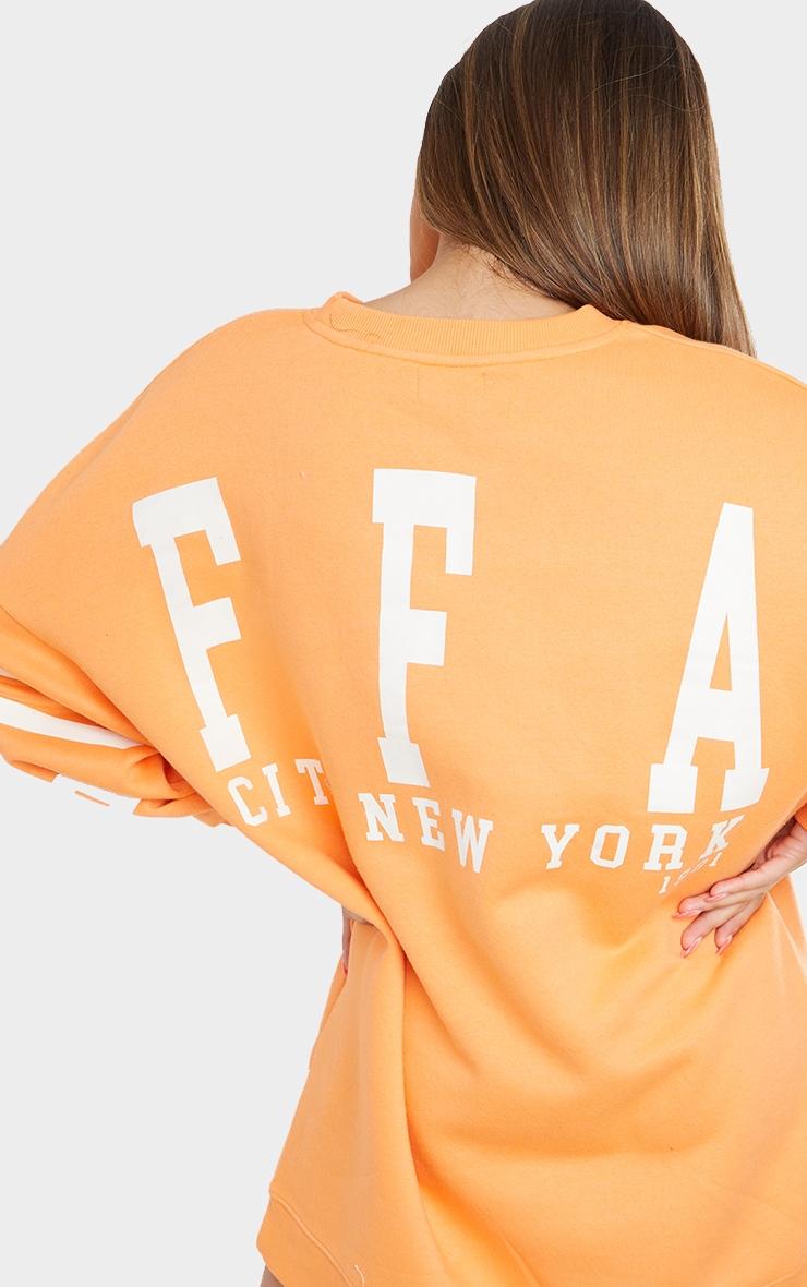 Tangerine Buffalo New York Graphic Sweatshirt Dress 4