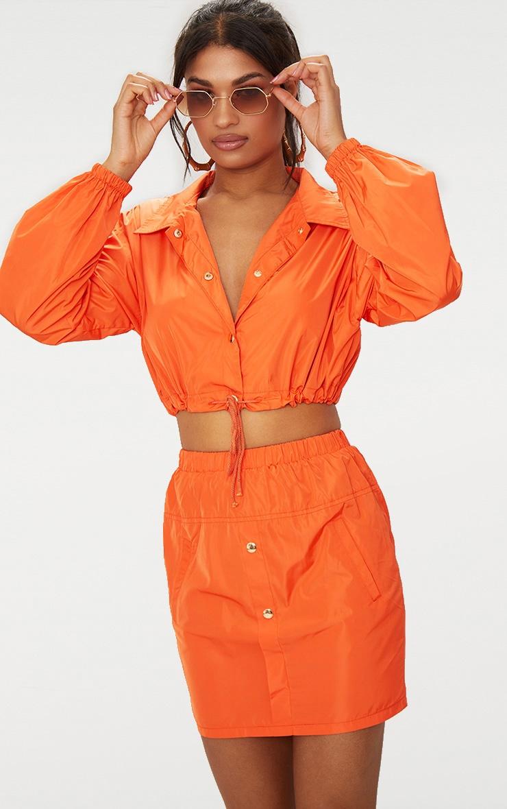 Orange Shell Suit Mini Skirt 2