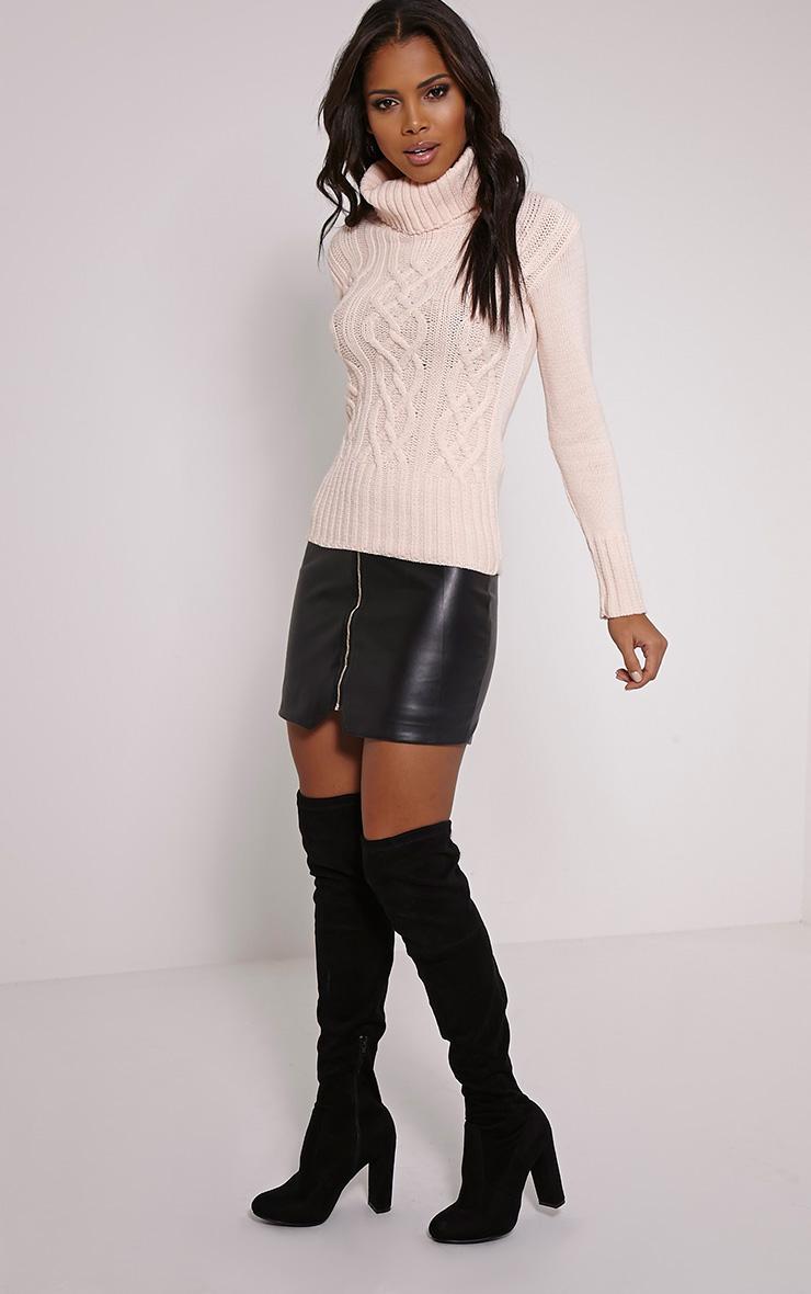 Yonda Blush Roll Neck Knitted Jumper 3