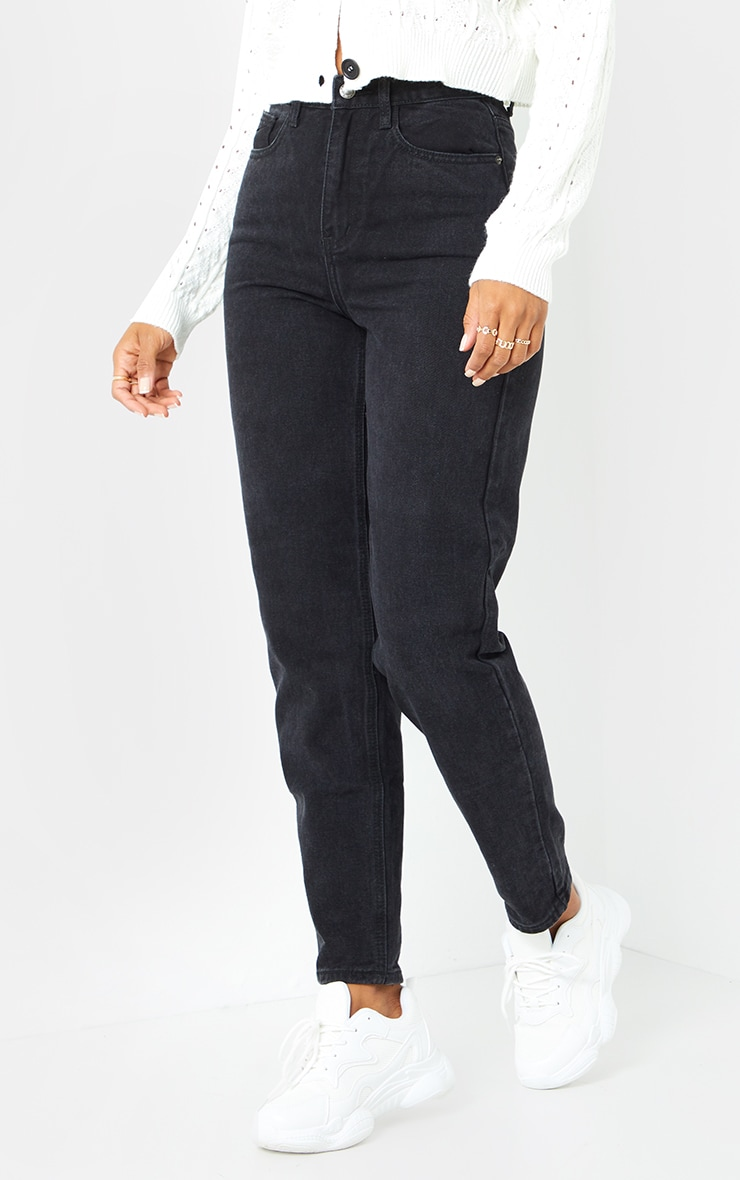 PRETTYLITTLETHING Black Mom Jean 2