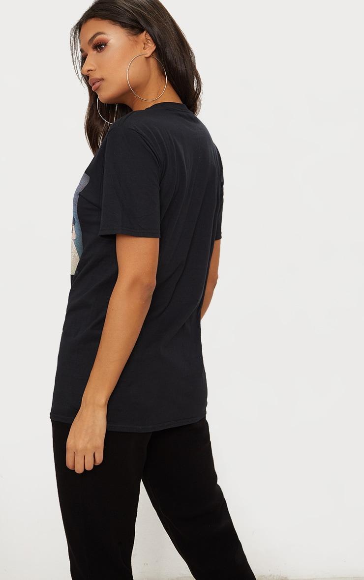 Black Snow White Oversized T Shirt 2