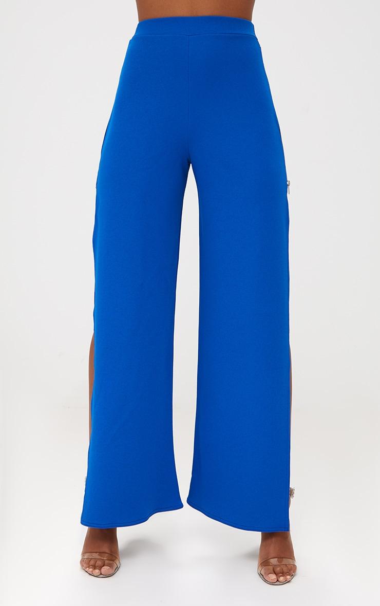 Cobalt Zip Split Wide Leg Track Pants 2