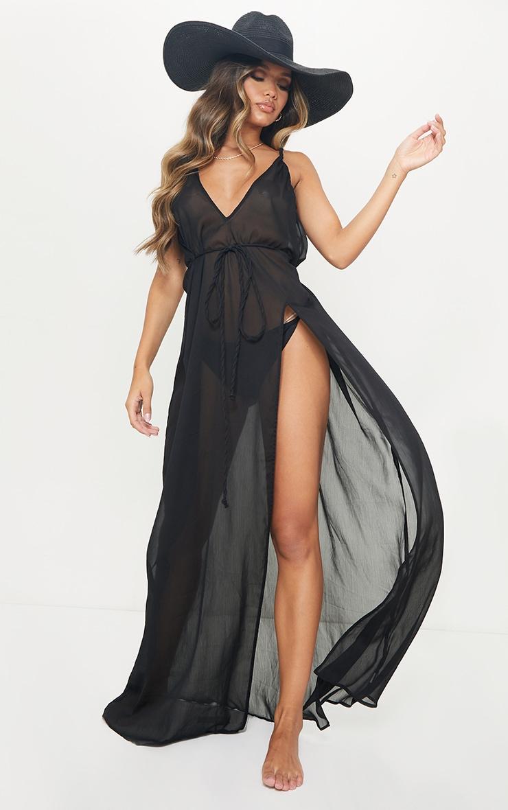 Black Plait Detail Beach Dress 3