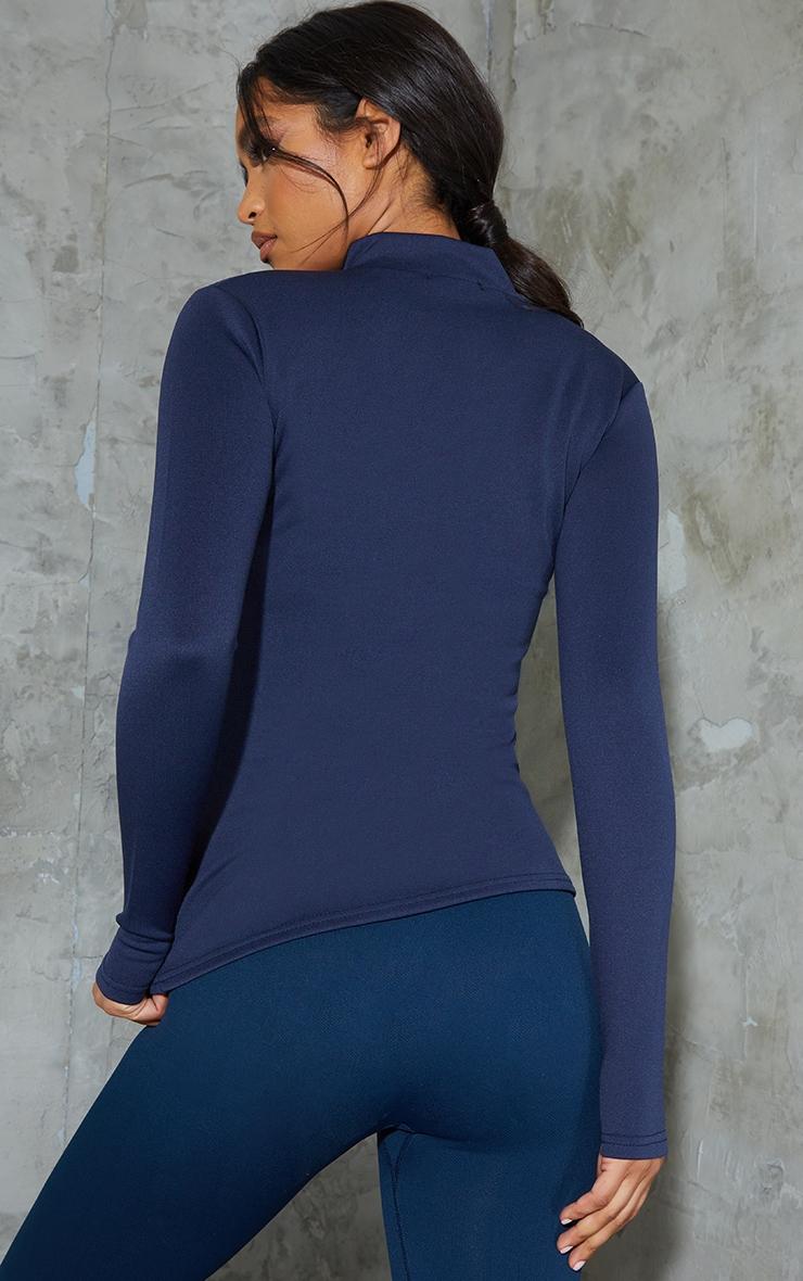 PRETTYLITTLETHING Blue Scuba Zip Up Sports Jacket 2