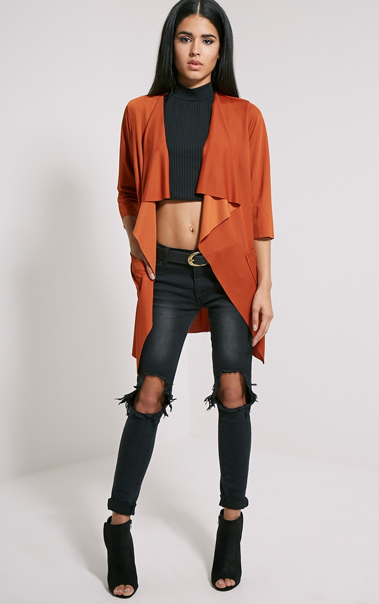Siran Rust Belted Jacket 3
