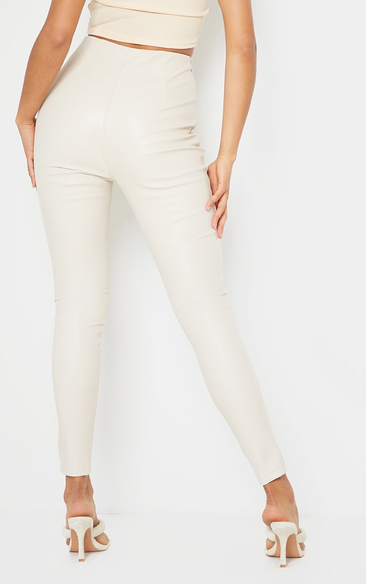 Stone Faux Leather Stretch Leggings 3