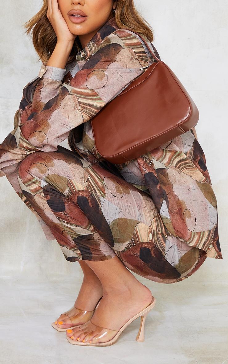 Chocolate PU Shoulder Bag 1