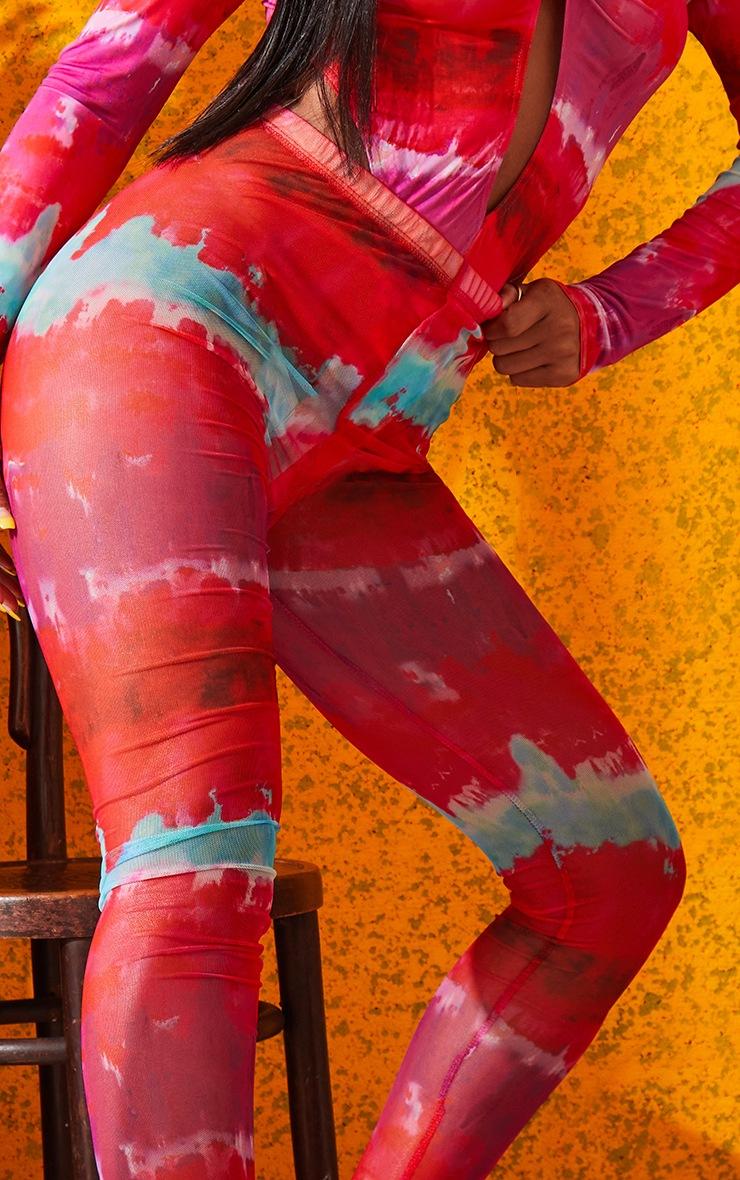 Multi Printed Mesh Leggings 5