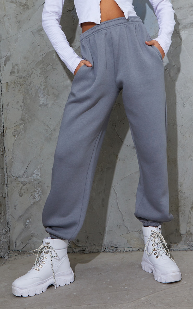Charcoal Blue Casual Joggers 2
