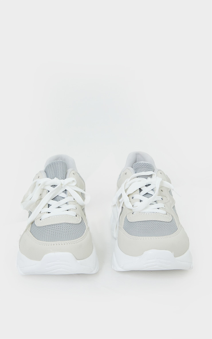White Pink Bubble Sole Sneakers 3