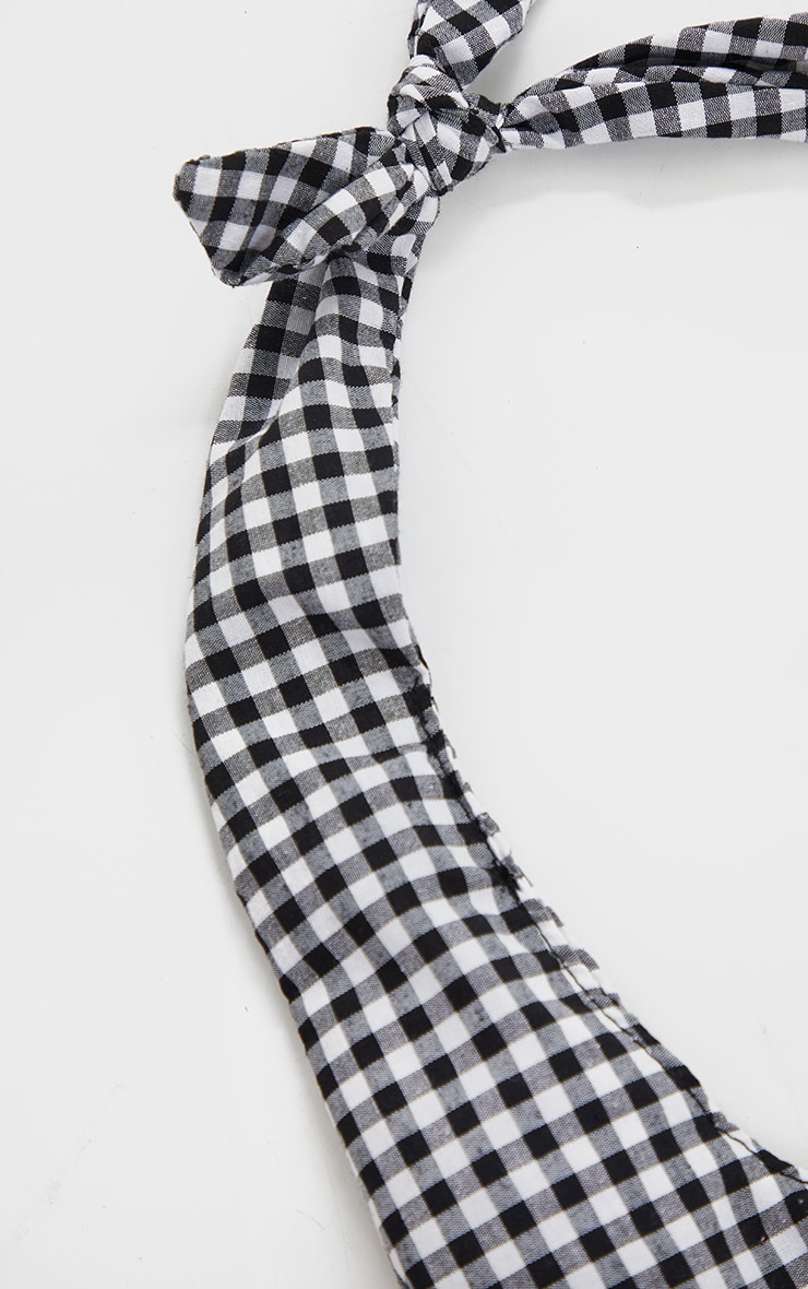 Black And White Gingham Check Tote Bag 3