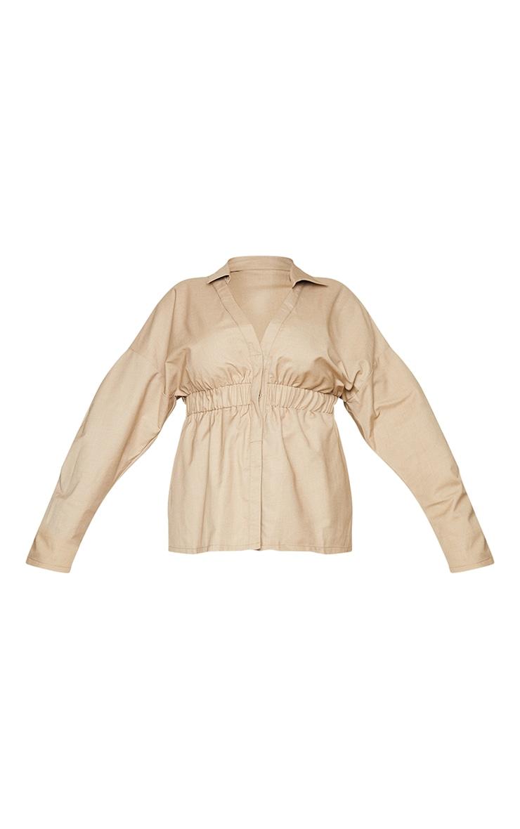 Plus Camel Elasticated Waist Shirt 5