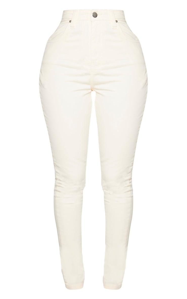 Shape Ecru High Waisted Skinny Jeans 5