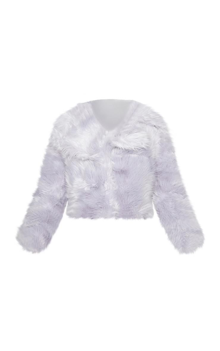 Ice Grey Faux Fur Jacket 2