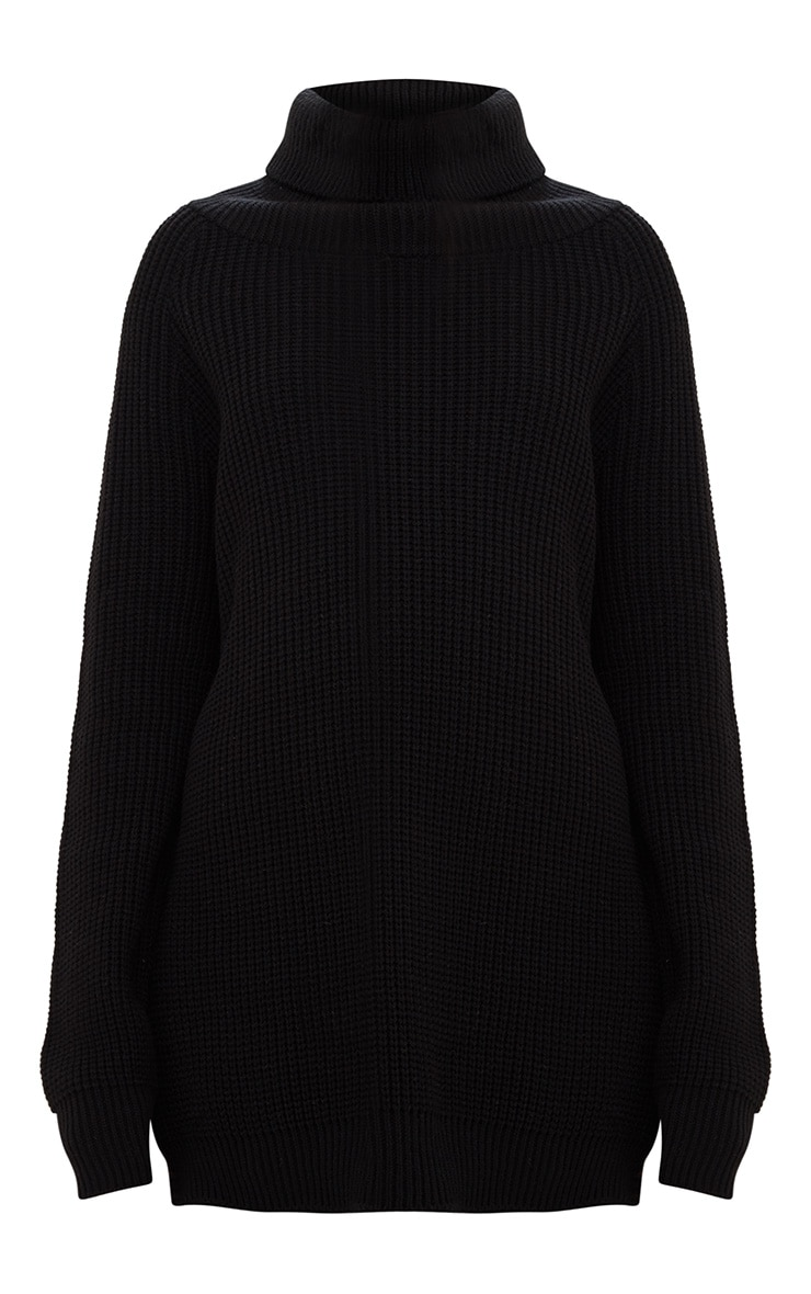 Black High Neck Jumper 3