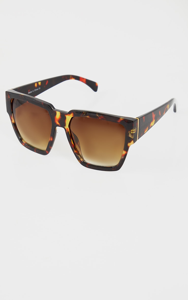 Tortoiseshell Oversized Square Sunglasses 2