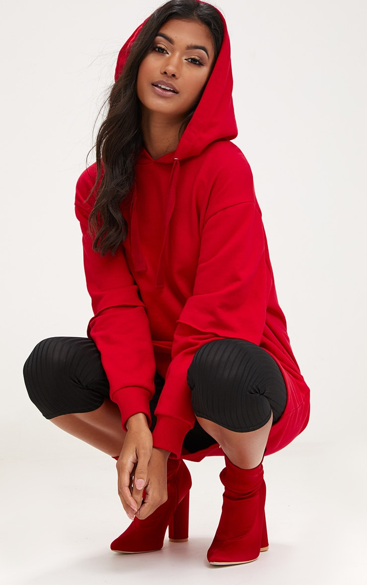 Red Oversized Sweater Hoodie  3