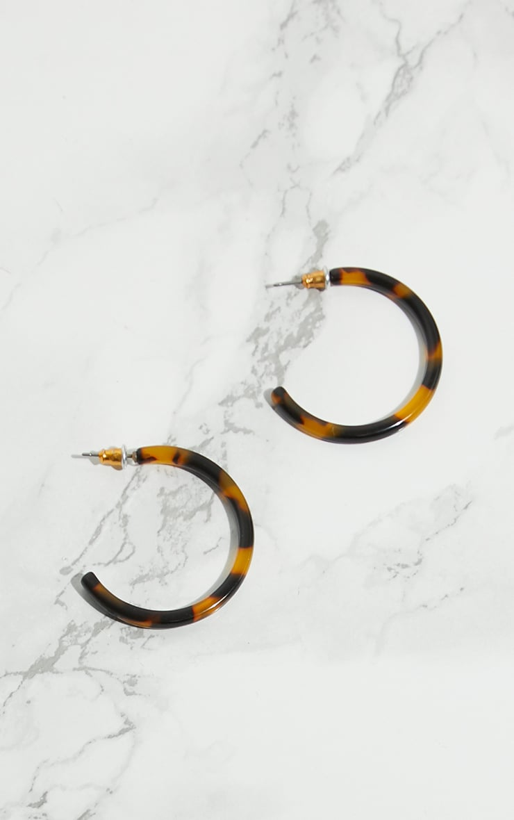 Tortoise Shell Small Hoop Earrings 4
